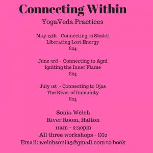 A Series of 3 YogaVeda Workshops
