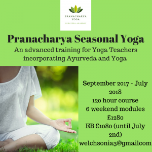 Pranacharya Seasonal Yoga Training